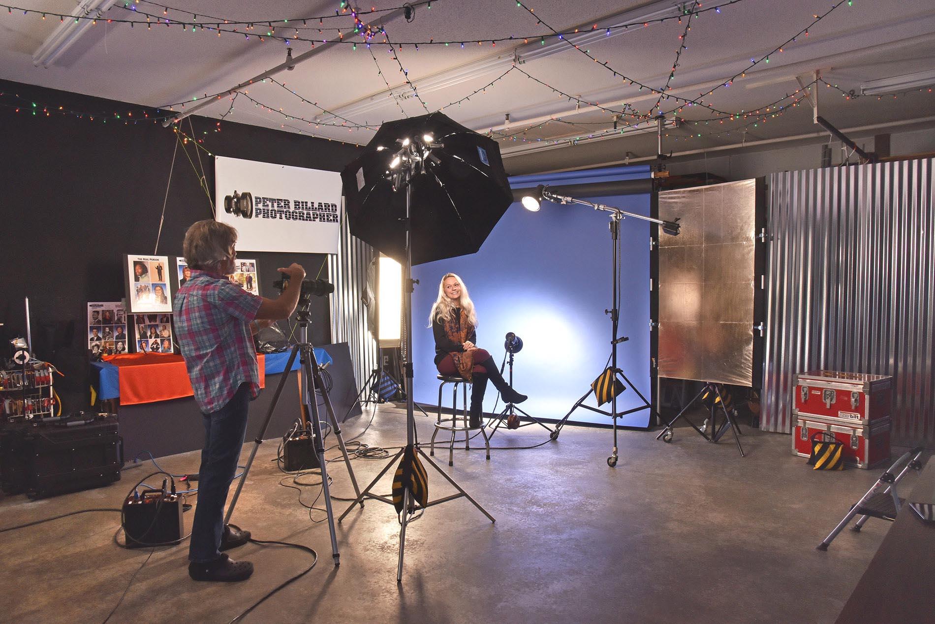 BTS studio portrait session with Meghan