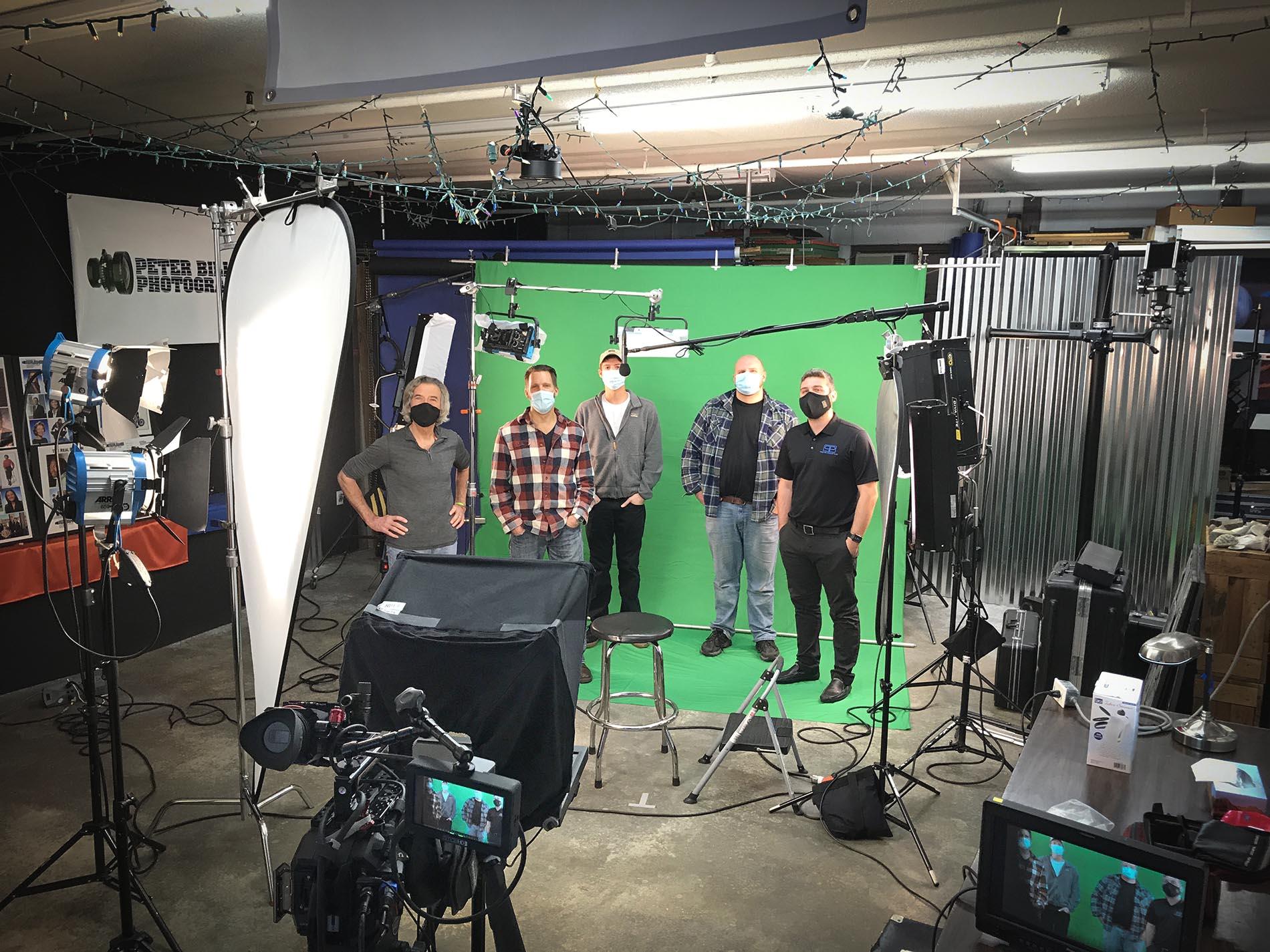 Studio behind the scenes video shoot