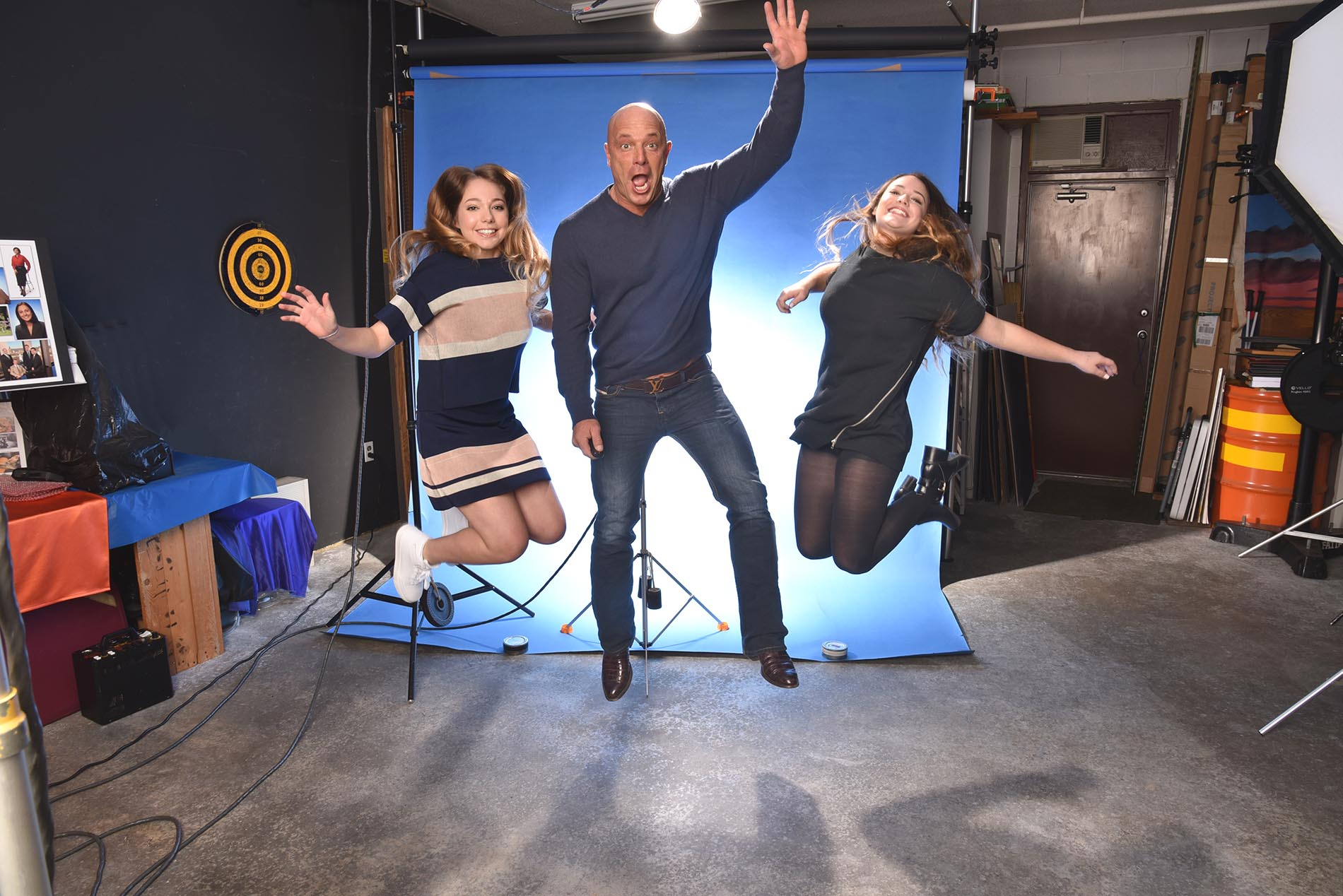 Behind the scenes portrait session in studio with Dylan & daughters